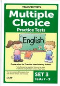 Multiple Choice Practice Transfer Test in English Set 3 Tests 7-9 by Pat Quinn